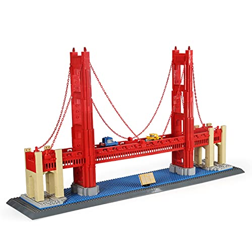 icuanuty City Architecture Model Building Set San Francisco Golden Gate Bridge Kit De Construcción 1977Pcs Compatible con Lego