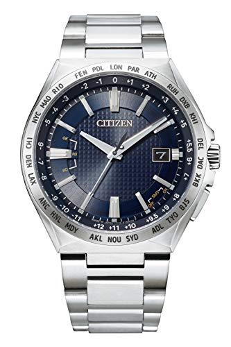 [シチズン] 腕時計 アテッサ エコ・ドライブ電波時計 ダイレクトフライト ACT Line CB0210-54L メンズ シルバー