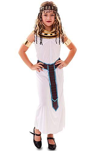 Fyasa 706505-T03 - Disfraz de nia egipcia para 10 a 12 aos, multicolor, tamao mediano