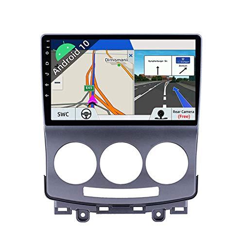 JOYX Android 10 Autoradio para Mazda 5 (2005-2010) - [2G+32G] - Gratis Cámara - 9 Pulgada - 2 DIN - IPS 2.5D - Apoyo Dab 4G WLAN Bluetooth Carplay Mandos de Volante Google Split Screen Android Auto