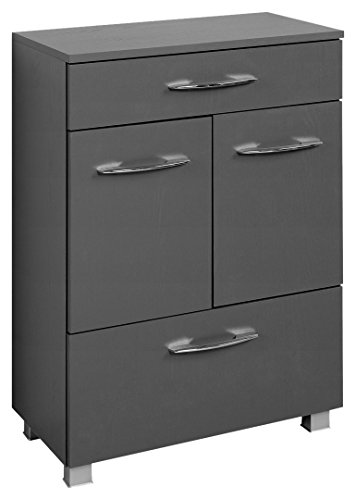 Held Möbel Portofino Unterschrank 60, Holzwerkstoff, Graphitgrau, 35 x 60 x 84 cm