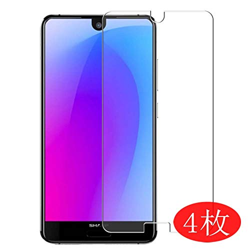 【4 Pack】 Synvy Screen Protector for Sharp AQUOS S3 Mini 0.14mm TPU Flexible HD Clear Case-Friendly Film Protective Protectors [Not Tempered Glass] New Version