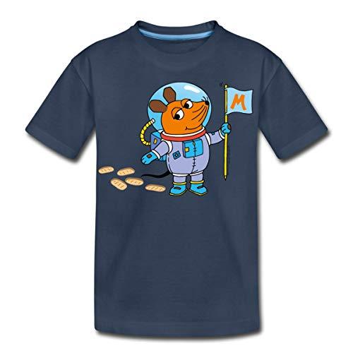 Sendung Mit Der Maus Maustronaut Im Weltall Teenager Premium T-Shirt, 146-152, Navy