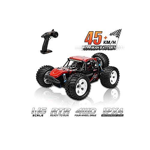 ZD Racing 1:16 Scale 45 KM/H High Speed RC Cars, All Terrain 4WD Off Road Waterproof Trucks Hobby Radio Control Buggy Fast Remote Control Car Best Birthday for Girls Boys and Adults