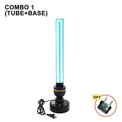 Lampe de désinfection UV à haute teneur en ozone 40W 110V 220V Lampes ultraviolettes domestiques Tube E27 Tube de lumière germicide UVC stérilisant Lights-Combo_1_220V