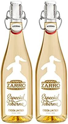Vermut Zarro Especial Taberna Blanco de 75 cl - Elaborado en Madrid - Bodegas Sanviver (Pack de 2 botellas)