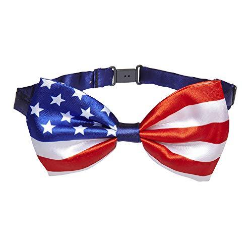 Widmann 05734 – Fliege, mit amerikanischer Flagge, Kostümaccessoire, Zubehör, Amerika, USA, Nationalität, Sport- und Fanwelt, Motto Party, Karneval
