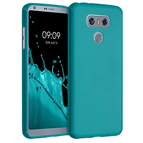 kwmobile Custodia Compatibile con LG G6 - Cover in Silicone TPU - Back Case per Smartphone - Protezione Gommata Petrolio Matt