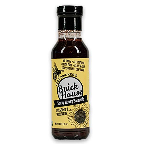 Sunny Honey Balsamic - Keto Salad Dressing and Marinade with Non-GMO Sunflower Oil By Brick House Vinaigrettes. Low Sodium / Low Carb / Low Sugar. Gluten Free / Dairy Free / Soy Free / Nut Free (1-ct)