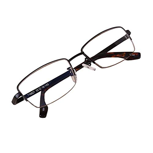 Zwart Halve Border leesbril, blauw blocking Resin Lens Schroef Scharnier Ultra Clear Vision Reader,+2
