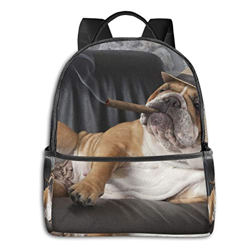 Gentleman Dog High School Boys Outdoor Cycling Backpack Girls High Capacity Antitheft Backpack