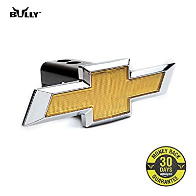 Bully CR-132 Licensed Chevrolet Chevy Logo Truck Trailer Tow Hitch Receiver Cover Exterior Accessories fits 2 Inch Receivers and Plugs - Genuine Licensed Accessory