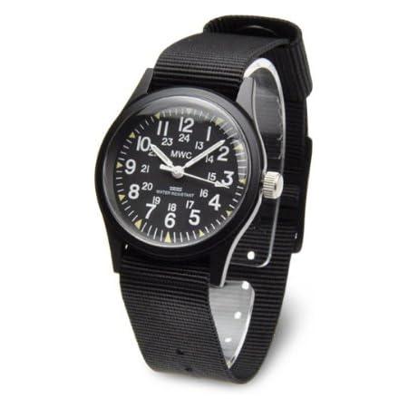 MWC アメリカ軍 ミリタリー ウォッチ メンズ 腕時計 ブラック