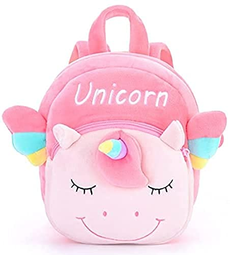 SSFZ Mochila para niños bebé niños dibujos animados unicornio mochila lindo juguetes de peluche bolsa de niños Kindergarten Schoolbag Niñas Niños 3D Lovely Animal Backpack