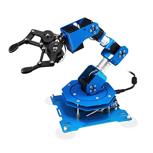 Robot arm 6DOF Full Metal Programmable xArm Robotic Arm with Feedback of Servo Parameter, Wireless/Wired Mouse Control, Mobile Phone Programming