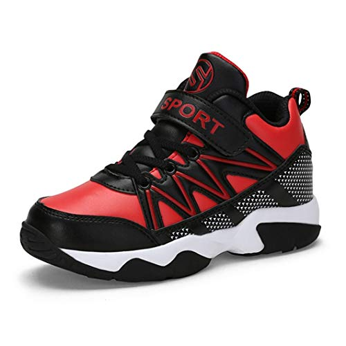 Chaussures de basket-ball pour enfants toute l'année universelle ment confortable maille en cuir choc respirant absorbant chaussures de sport pour les chaussures de basket-ball pour les enfants