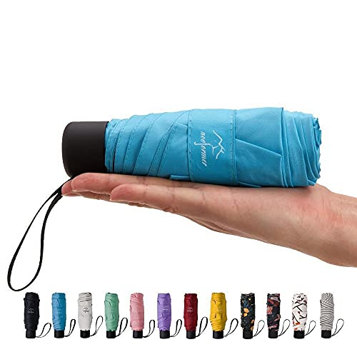 NOOFORMER mini Travel sun&rain Umbrella - Lightweight Compact Parasol Umbrellas with 95% UV Protection for Men Women Multiple Colors