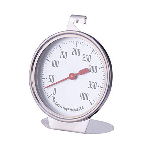 UPKOCH Termometro da Forno, Termometro per monitoraggio griglia/Fumatore, Ampio Display nitido Mostra Temperature marcate per cucine Professionali e da Cucina Domestica (quadrante Singolo / 0-400)