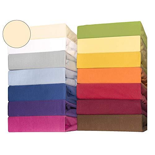CelinaTex Lucina for Kids Kleinkinder Spannbettlaken Doppelpack 60x120 - 70x140 cm natur beige Baumwolle Spannbetttuch