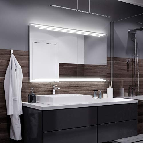Badkamerspiegel - Warme LED-kleur - Vele maten