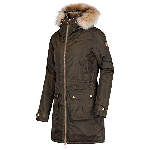 Regatta Damen Lucasta Waterproof And Breathable Insulated Jacke, Grün (Dunkles kaki), 42
