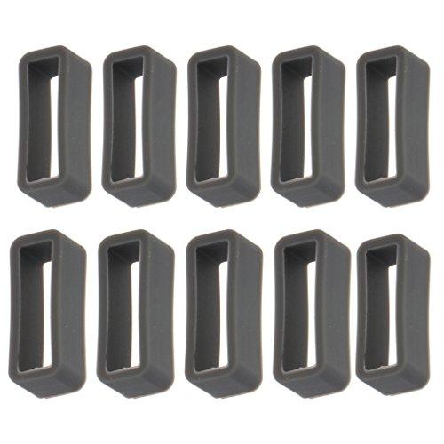 MagiDeal 10 PCS Bucles Retenedor de Silicona Accesorios para Reloj Correa - Gris, 18 mm