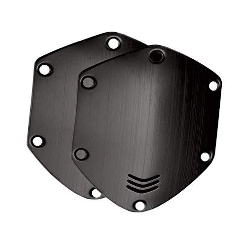 Kit de escudos de metal para auriculares circumaurales V-MODA Crossfade - Brushed Black