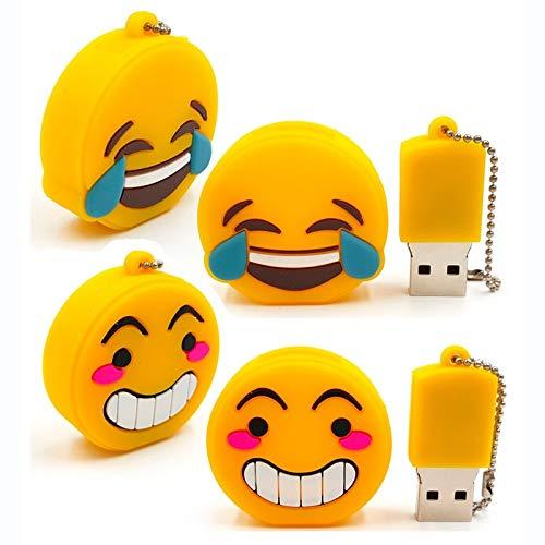 Vasara Memoria USB Emoticonos 4 GB - Pendrives para Comuniones Personalizados. Detalles para Cumpleaños y Comuniones Originales