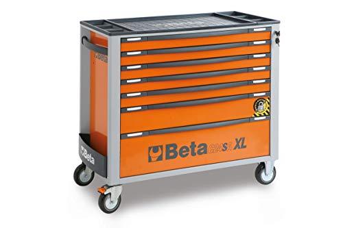 Beta C24SA-XL/7 Cassettiera Per Attrezzi Portatile Con 7 Cassetti E Sistema Di Antiribaltamento, Modello Lungo