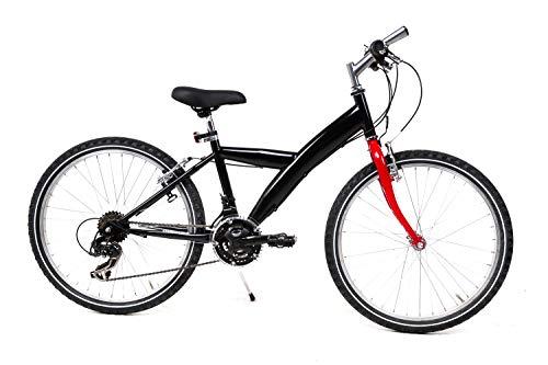 24 Zoll Kinder Jugend Fahrrad MTB Shimano 21 Gang Mountainbike schwarz B-Ware