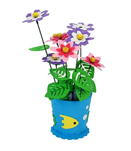 Blancho 2 jeux d'enfants bleu bricolage en pot de fleurs en EVA décoratifs
