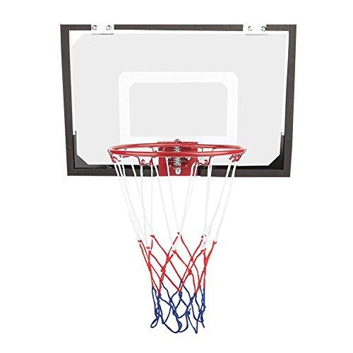 Estink Juego de aro de baloncesto para niños y tabla, mini baloncesto montado en la pared con bola de red y bomba portátil para interior