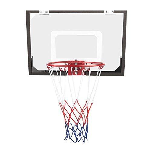 Ejoyous An der Wand hängendes Basketballbrett, Kinder Kindertür Wandbehang Basketball Backboard Hoop mit Ballspielzeug und Inflator, Home Indoor Basketball Board Hoop Net Robustes PC-Metallmaterial