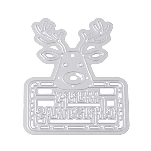 Christmas Elk Shape Embossing Cutting Die DIY Craft Stencil Scrapbook Mold Decor - Silver