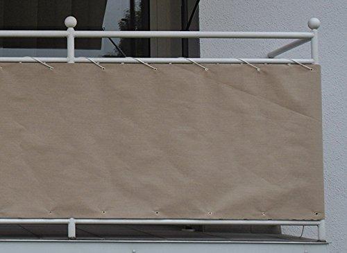 Vue de balcon Protection 6 M Balcon entoilage Revêtement balcon Coupe-vent 90x600 cm