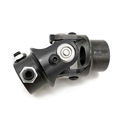 Ensun 3/4 DD x 3/4 Round Black Single Steering Shaft Universal U Joint, Maximum Working Angle: 35° Degree, Total Length: 83mm (3-1/4