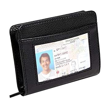 Paddsun 36 Slots Credit Card Holder Wallet RFID Blocking Leather Wallet for Men and Women with Zipper Huge Storage Capacity