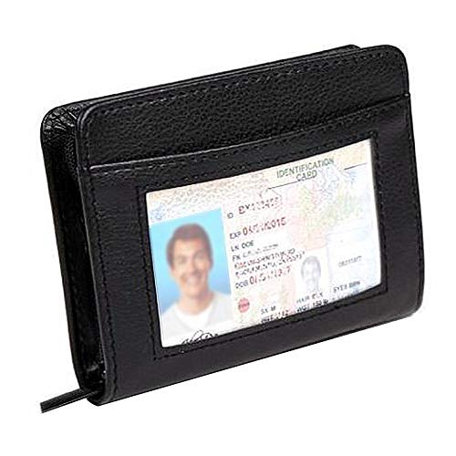 Paddsun 36 Slots Credit Card Holder Wallet RFID Blocking Leather Wallet for Men and Women with Zipper, Huge Storage Capacity
