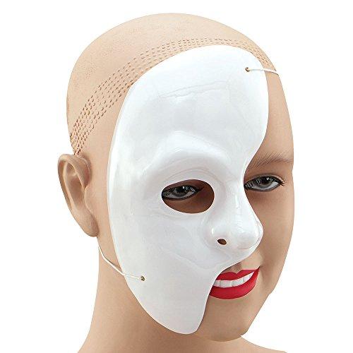 Bristol Novelty- Phantom of The Opera-Maschera per Mezzo Viso, Colore Bianco, Taglia Unica, PM069