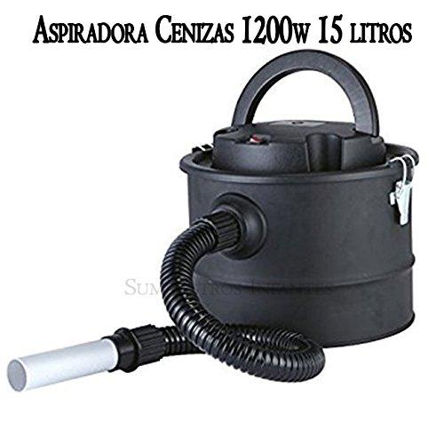 ASPIRADOR y SOPLADOR de CENIZAS para CHIMENEAS. Aspiradora de potencia 1200W y cuba metálica de 15 litros.: Amazon.es: Bricolaje y herramientas
