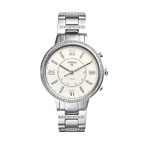 Fossil Smartwatch Analogico Quarzo da Donna con Cinturino in Acciaio Inox FTW5009