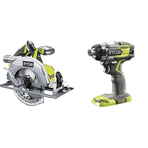 Ryobi R18CS7-0 ONE+ 18V Cordless Brushless Circular Saw (Body Only) & R18IDBL-0 18V ONE+ Cordless Brushless Impact Driver (Body Only)
