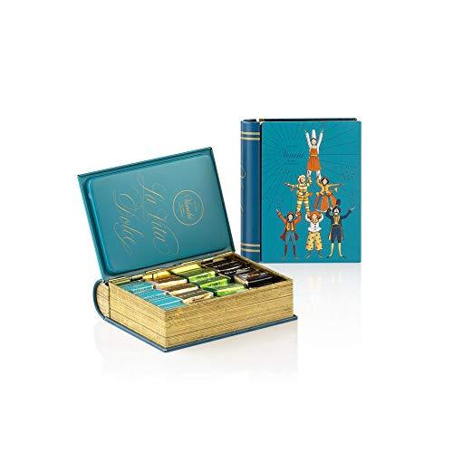 Venchi Scatola Regalo Con Cioccolatini Cremini Assortiti, Mini Libro Blu In Latta G - Senza Glutine, Cioccolato, 166 Grammo