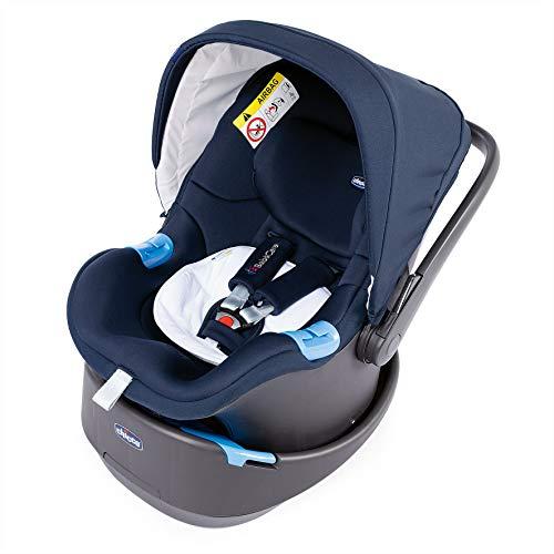 Chicco Oasys Up BebèCare Seggiolino Auto con Dispositivo Anti-abbandono Integrato, 0-6 kg, Gruppo 0+, Iconic Blue