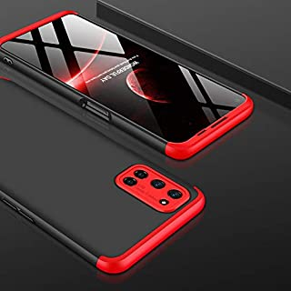 AKDSteel Anti-Drop Protective Shell for O-PP-O A52/A72/A92 Mobile Phone Cover 360 Degree Full Protection Phone Case Red Bl...