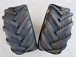 DEESTONE Pair 23x10.50-12 4 Ply D405 Tractor Lug AG Traction Pair