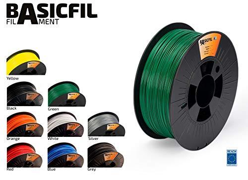 Basicfil PLA 1.75mm, 1 kg filament pour imprimate 3D, Vert