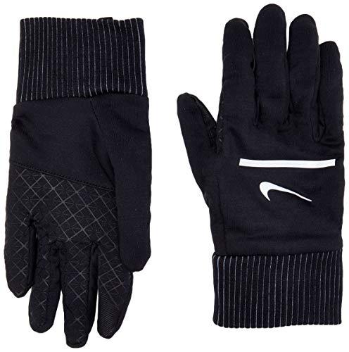 NIKE Men s Sphere Running Gloves (Black Silver, Large)