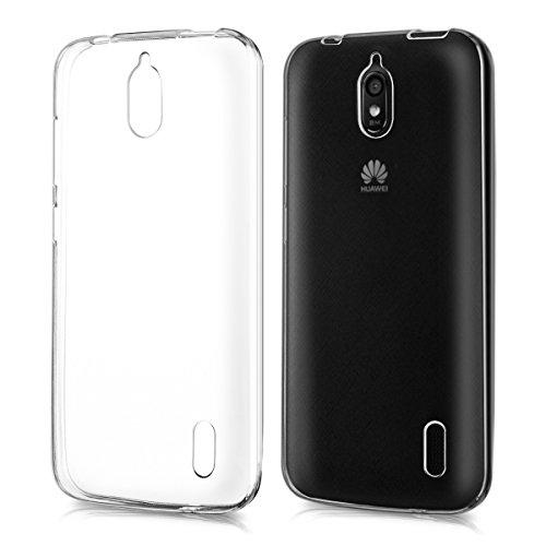 kwmobile Funda Compatible con Huawei Y625 - Carcasa de TPU para móvil - Cover Trasero en Transparente