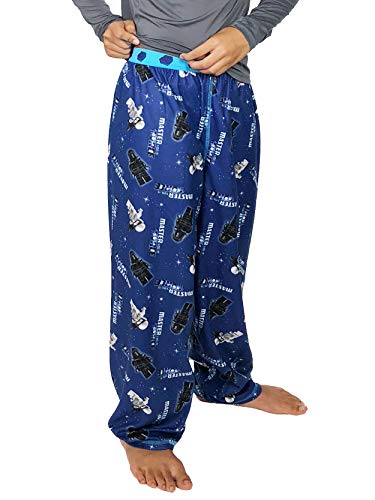 LEGO Star Wars Boy's Flannel Lounge Pajama Pants (10-12, Blue)